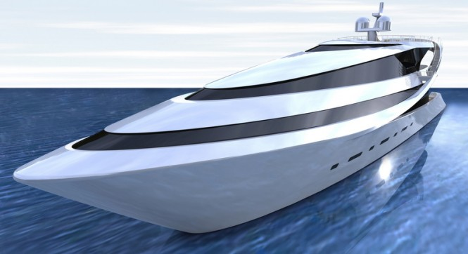 MANTA yacht concept - front view