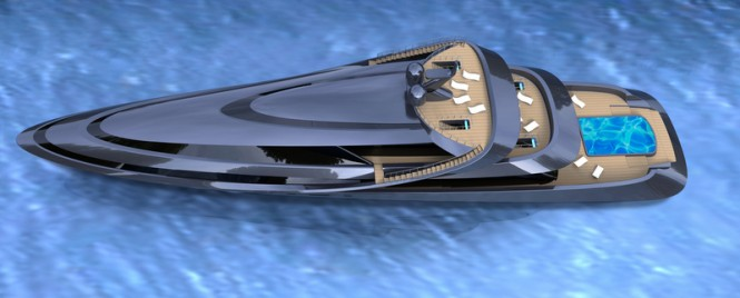 MANTA yacht concept - view from above