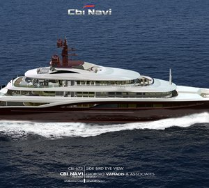 New 67m motor yacht CBI 675 concept by Cbi Navi - FIPA GROUP and Architect Giorgio Vafiadis