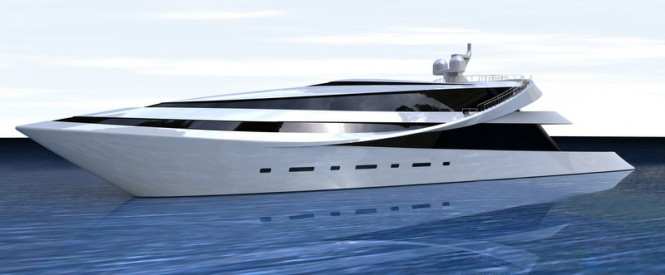 Megayacht MANTA design by Scott Henderson - white top