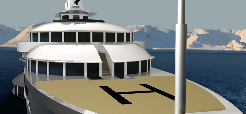 Narwhal yacht concept - front view