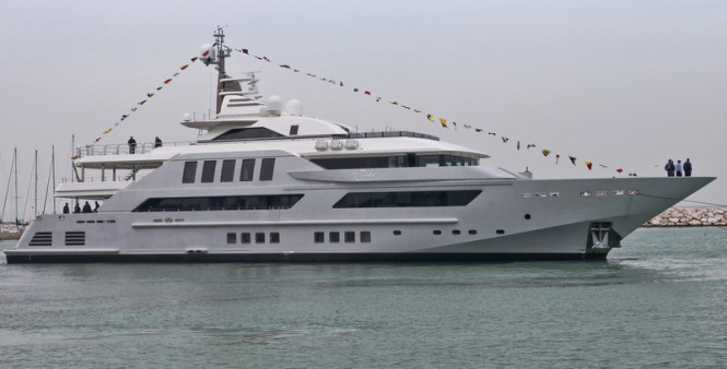 Newly launched CRN 125 superyacht J'Ade by CRN Shipyard