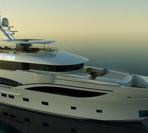 First Noble Star 140 motor yacht KING BABY in build at IAG Yachts