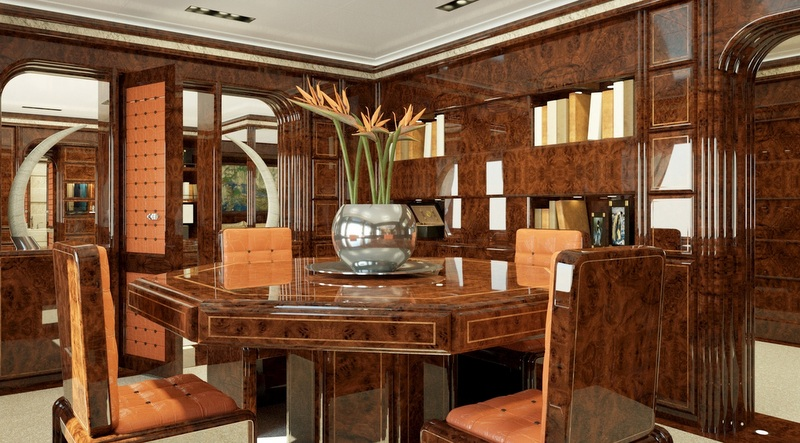 Owneru0027s Office Aboard The 72m Luca Dini And Stefano Ricci Superyacht Project