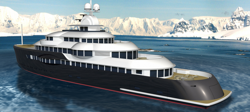 Superyacht Narwhal concept - aft view