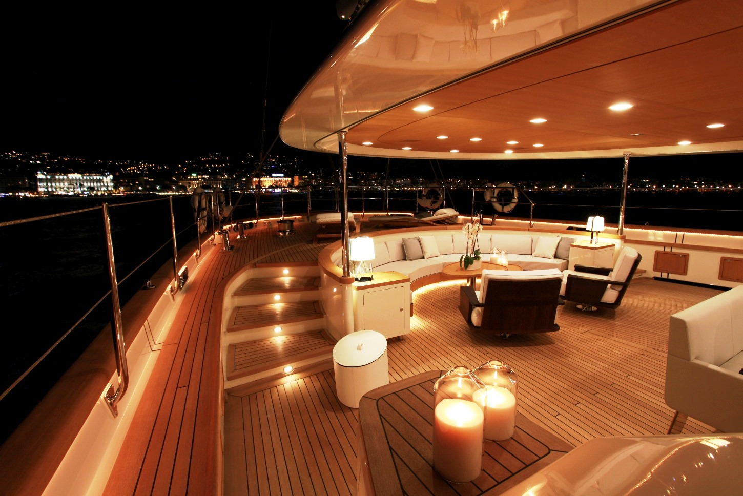 Yachts At Night Superyacht SILE...