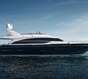 Two new Princess yacht models on display at the next London Boat Show