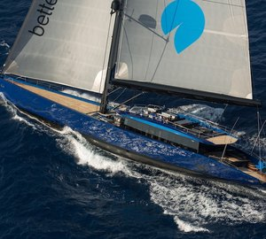 Images of the world's largest carbon fibre sloop BETTER PLACE - the first Green Star sailing yacht