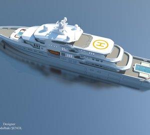 New images of the 90m Abdulbaki Senol Megayacht Concept