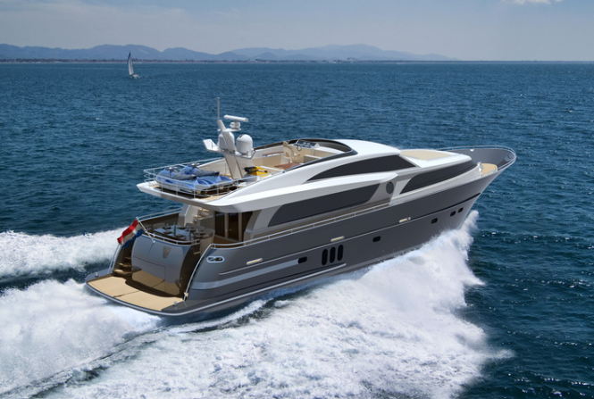 Aft view of the motor yacht Continental III - Image courtesy of Wim van der Valk