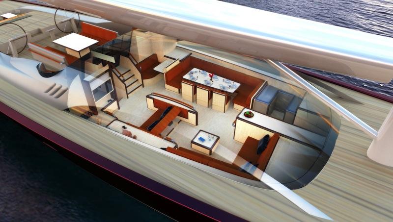 Jim Robert Sluijter Designed 43m Sailing Yacht Interior Layout