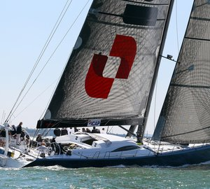 IMA Transatlantic Race Winner charter yacht LEOPARD 3 with new interior by Design Unlimited