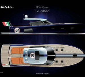 Special edition of the Maxi Dolphin's MD51 Power: GT (Gran Turismo) yacht tender