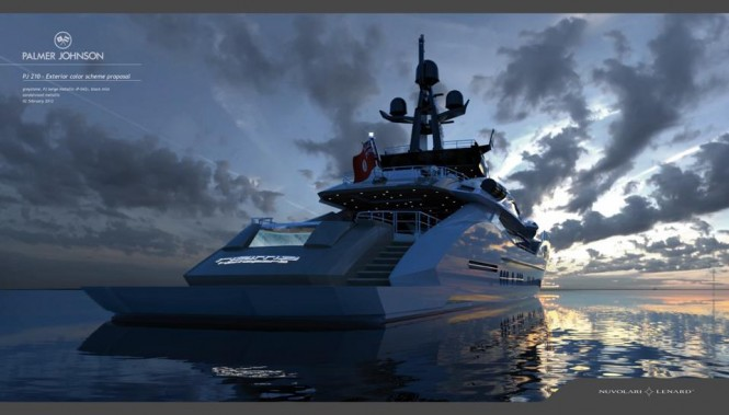 PJ 210 Project Stimulus Yacht designed by Nuvolari Lenard - Built by Palmer Johnson - Image courtesy of Nuvolari Lenard Design