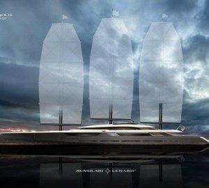 Nuvolari Lenard Designed 106 m Sailing Yacht SOLAR project for Oceanco