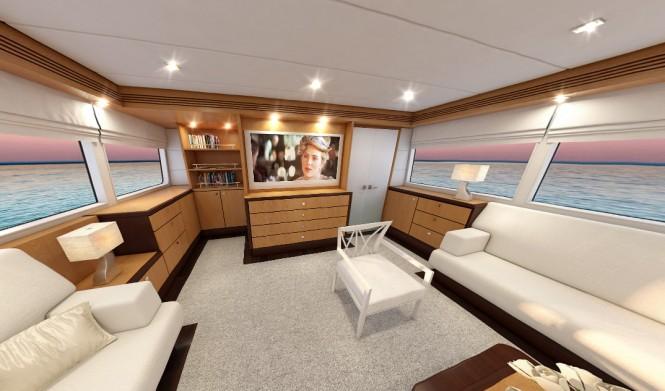 Salon of the 26m motor yacht Continental III by Wim van der Valk