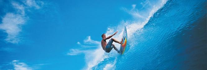 Surfing in Maldives