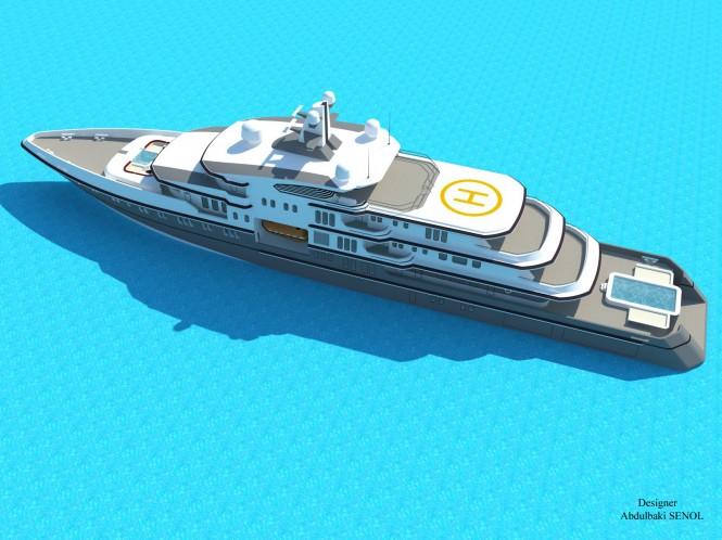 The impressive 90-metre Senol Yacht Concept