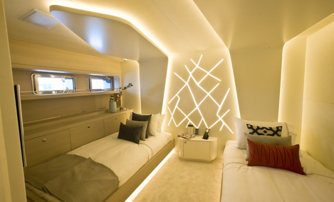 46 m Yacht 60 Years - Guest Cabin