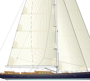 Hoek and Rhoades Young designed 48 m Royal Huisman classic sailing yacht RHS 393 in build