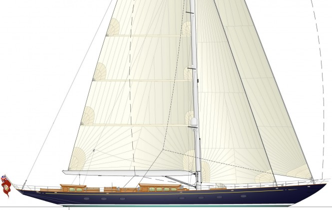 48 m Royal Huisman sailing yacht RHS 393 designed by Hoek and Rhoades Young