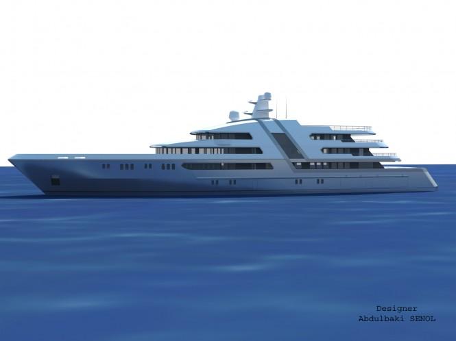 85 m Senol mega yacht design