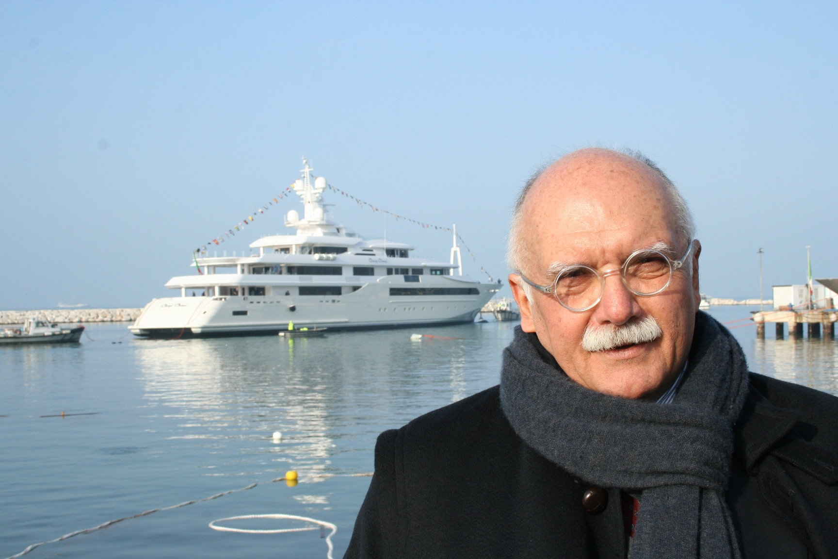 Gianni Zuccon at launch of the CRN 129 superyacht CHOPI CHOPI