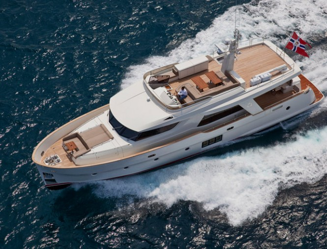 Greenline luxury yacht OceanClass 70 Hybrid - view from above