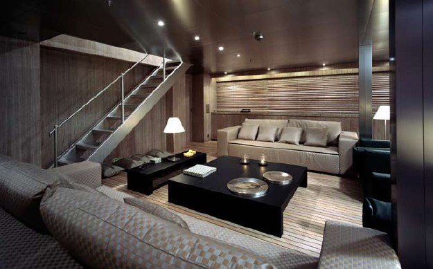 Interior of the lovely motor yacht MARIU