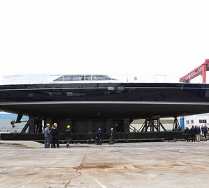 Sailing yacht STATE OF GRACE launched by Perini Navi as their first yacht in new 40 M Fast Cruising series