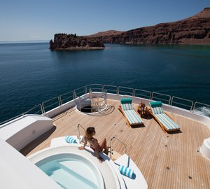 Home away from home aboard the breath-taking charter yacht ARIANNA available for charter in the Mediterranean this summer