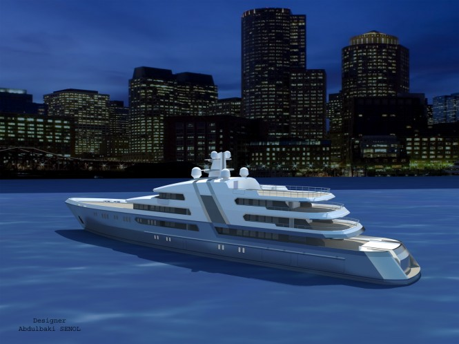 New 85 m Senol Yacht Concept - aft view