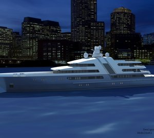 Images of the latest 85 m motor yacht concept by Abdulbaki SENOL