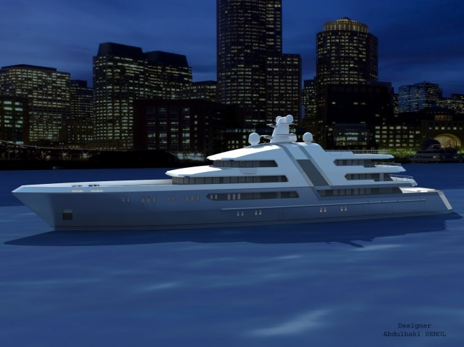 New 85 m superyacht concept by Abdulbaki Senol