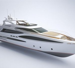 New motor yacht RP102 Raised Pilothouse concept developed by Horizon