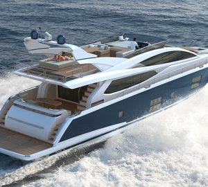 Kelly Hoppen styled Pearl 75 yacht on display at the upcoming London Boat Show