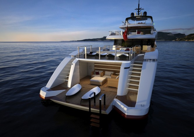 RMK 5000 Leisure Yacht Concept - aft view
