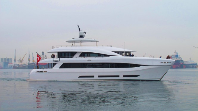 33m Curvelle Yacht Quaranta launched by Logos Marine