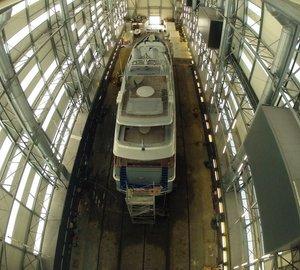 Full Monaco Marine Shipyard in La Ciotat with 18 yachts on site