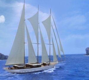 Balk Shipyard and Dream Ship Victory launch 65m sailing yacht MIKHAIL S. VORONTSOV