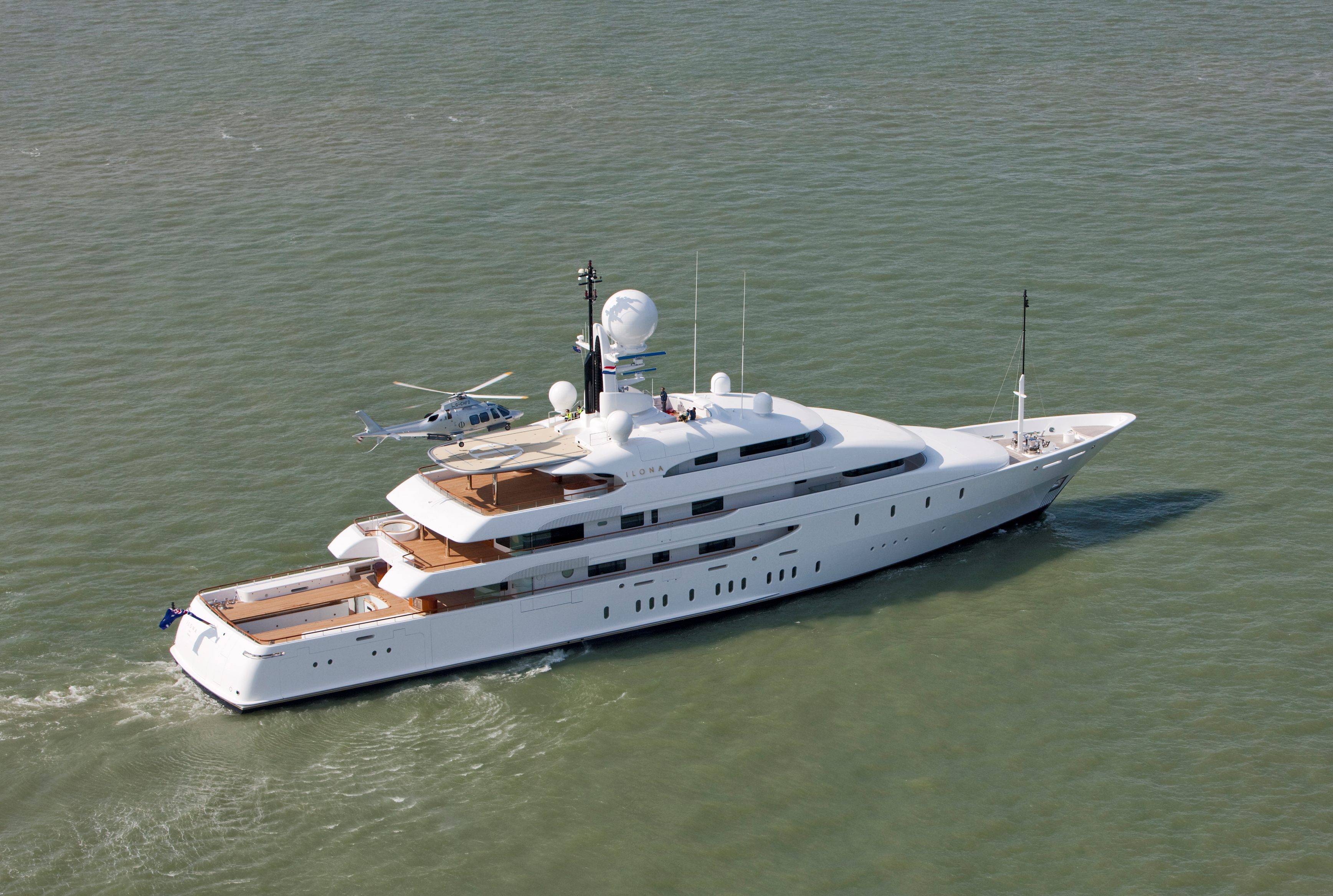 74 m mega yacht ILONA by Amels and Redman Whiteley Dixon after refit - Photo credit Amels Flying Focus