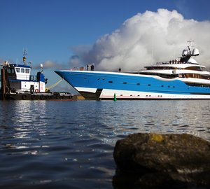 Newly launched 99m Feadship superyacht Project DREAM undergoing final outfitting