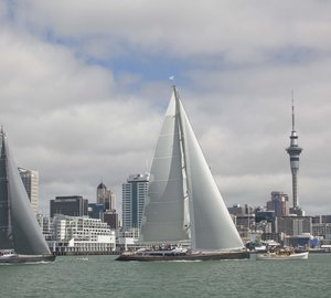 NZ Millennium Cup 2013 Day 2: Luxury yachts SILVERTIP and OHANA finish within seconds of each other