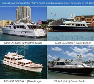 Burger Boat Company to participate in Miami Yacht & Brokerage Show 2013