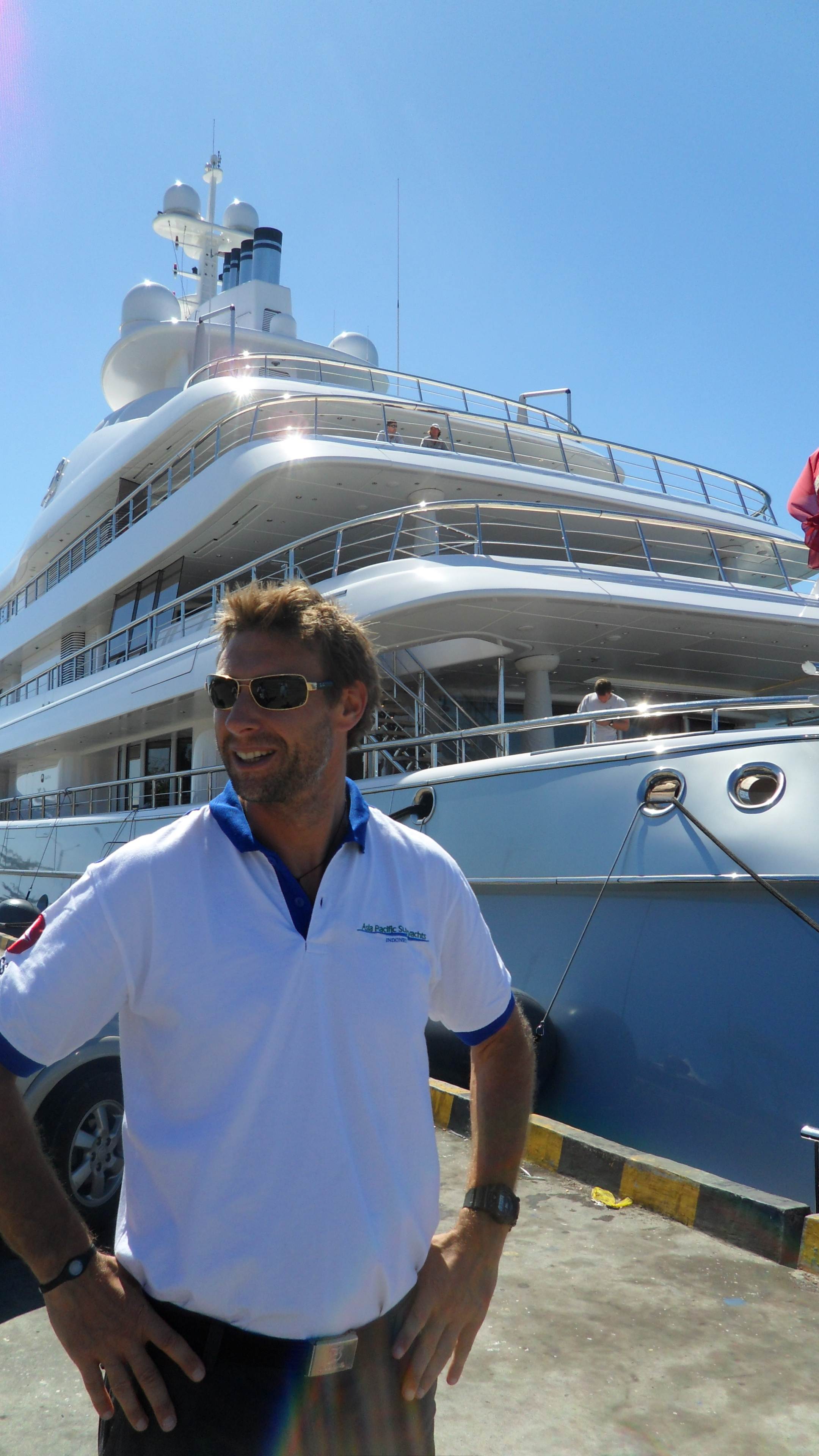 Private Yacht Charter Bali >> 'Discover Indonesia' Richard Lofthounse on 'Mayan Queen' Yacht at Bali Dock — Yacht Charter ...