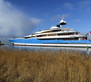 Feadship launch 99m Yacht Project DREAM - the largest yacht ever built in the Netherlands