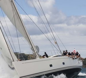 NZ Millennium Cup 2013 Day 1: Line Honours for sailing yacht ZEFIRO