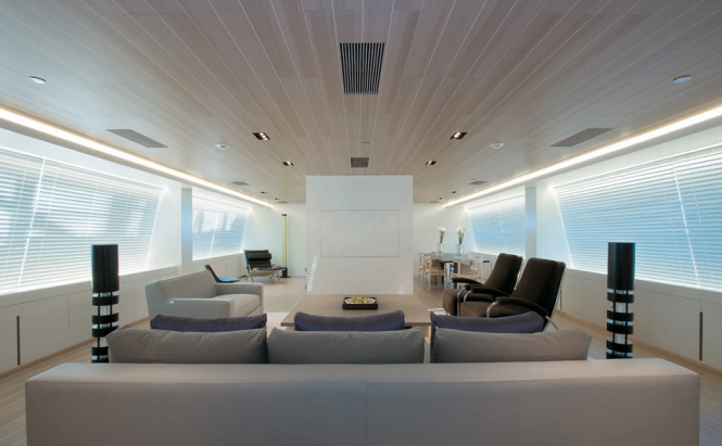Interior of the Perini Navi charter yacht Baracuda