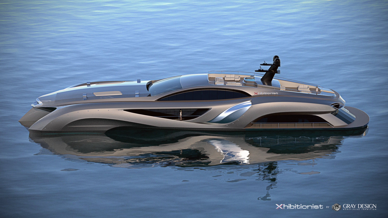 Superyachten concept  Xhibitionist Superyacht Concept — Yacht Charter & Superyacht News