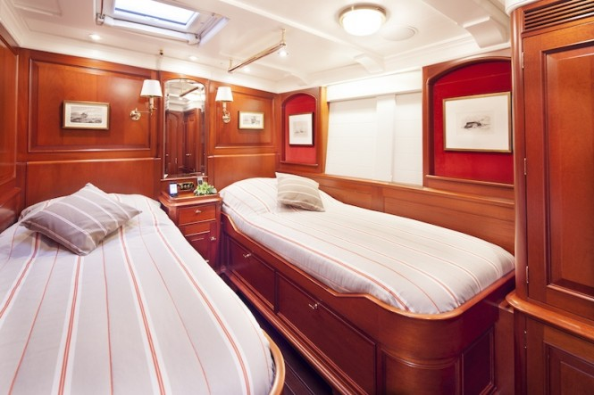 Sailing yacht Kamaxitha - guest cabin  - Photo by Cory Silken
